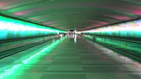 detroit airport light tunnel detroit airport dtw tunnel light