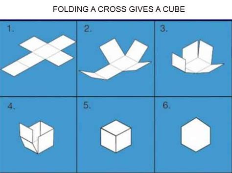How To Fold A Paper Cube - the cross is the cube in 2d the knights templar cross is