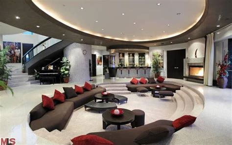 living room in mansion 22 million modern mansion in los angeles ca homes of