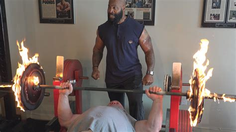 insane bench press burning bench press do not try this at home