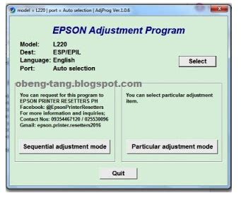reset epson l220 full mega resetter epson printer l220 download ala driver
