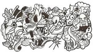 doodle lucu simple contoh gambar yg mudah di gambar fontoh
