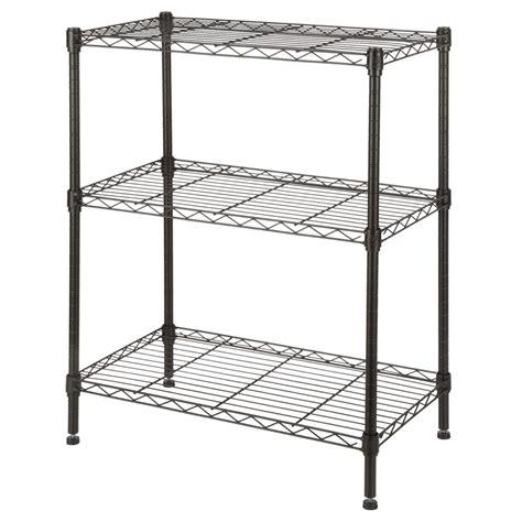 Steel Shelf Units by Homegear 3 Shelf Shelving Unit Black Carbon Steel Ebay