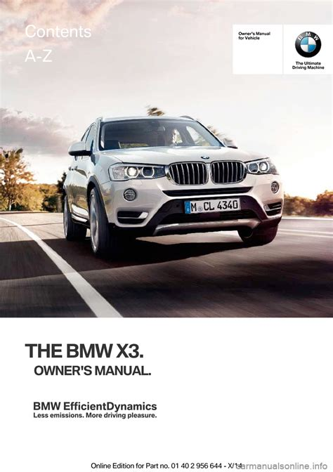 online car repair manuals free 2008 bmw x3 parking system bmw x3 2014 f25 owner s manual