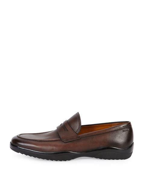 ballys loafers bally micson leather loafer in brown for lyst