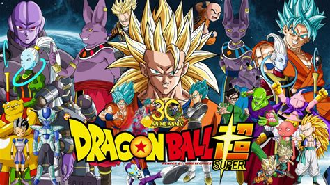 dragon ball super wallpaper deviantart dragon ball super 30th anniversary wallpaper 1 by