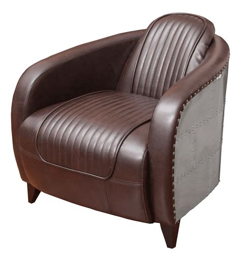 Aviator Armchair by Aviator Leather Side Chair Event Rentals Worldwide