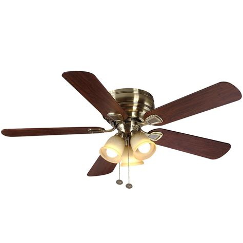 home ceiling fan hton bay garrison 52 in indoor gunmetal ceiling fan