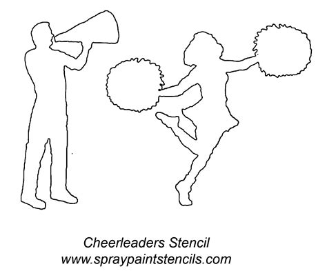 printable cheerleading stencils stencil requests for january 2007 page 2