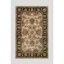 Floral Area Rugs Noble House Harmony Beige Black Floral Area Rug Wayfair