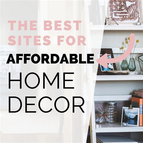 the best places to get affordable home decor but
