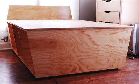 plywood bed frame designed for optimum storage apartman
