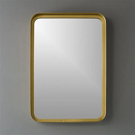 brass bathroom mirrors 16 quot x24 5 quot croft brass wall mirror