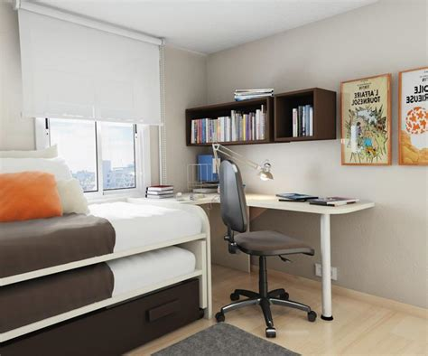 desk ideas for small bedrooms small bedroom desks for a narrow bedroom space homesfeed