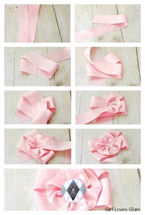 Handmade Ribbon Flower Tutorial - satin ribbon flower tutorial flower bows and diy and crafts
