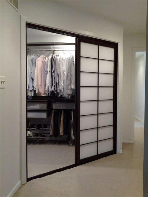 Shoji Screen Closet Doors Sliding Shoji Screen Closet Doors Shown Open Yelp