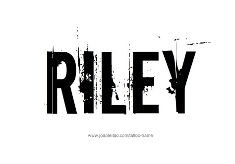 riley name tattoo design design name 20 4 png