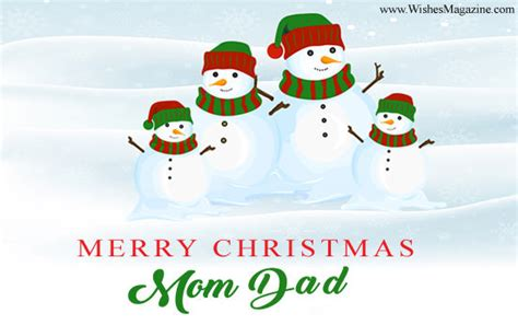 merry christmas wishes  mom dad xmas messages  parents