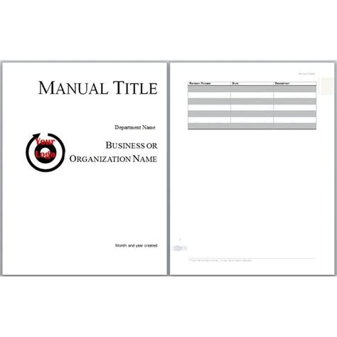 6 Free User Manual Templates Excel Pdf Formats Microsoft Word User Manual Template