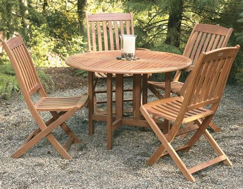 wooden patio table and chairs eucalyptus wood outdoor furniture at the galleria