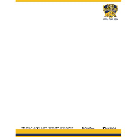 City College Letterhead 193 Nimo Jefferson Bleed Printed Letterhead Per 5000 Green Dot Ordering