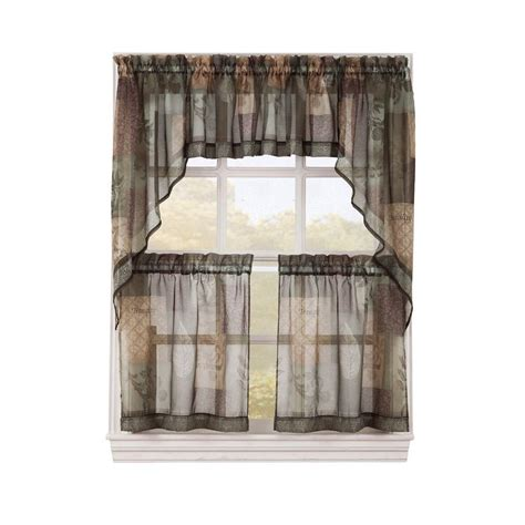 sage green sheer curtains lichtenberg multi eden printed textured sheer kitchen