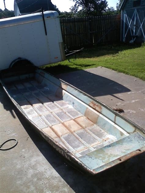 jon boat bed liner anyone ever restore modify a flat bottom jon boat ford