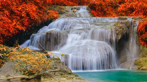 wallpaper erawan falls waterfall erawan national park