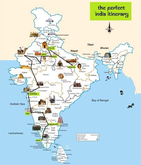 route map from usa to india the india itinerary route map global