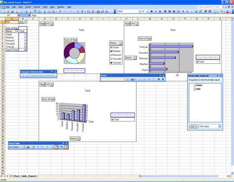 pivot table and pivot chart creating pivot tables and charts using activex codeproject