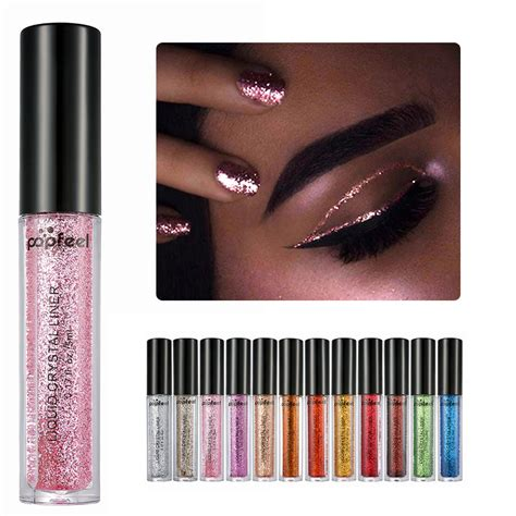 eyeliner tutorial pencil cream gel liquid popfeel long lasting waterproof liquid glitter eyeliner
