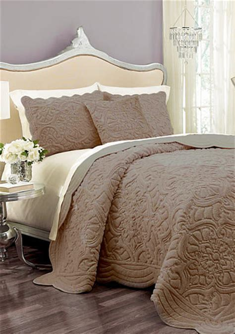 Taupe Coverlet King vue vue sig ff king taupe coverlet set belk