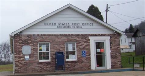 Indiana Pa Post Office by Smicksburg Pennsylvania 16256 U S Post Offices On