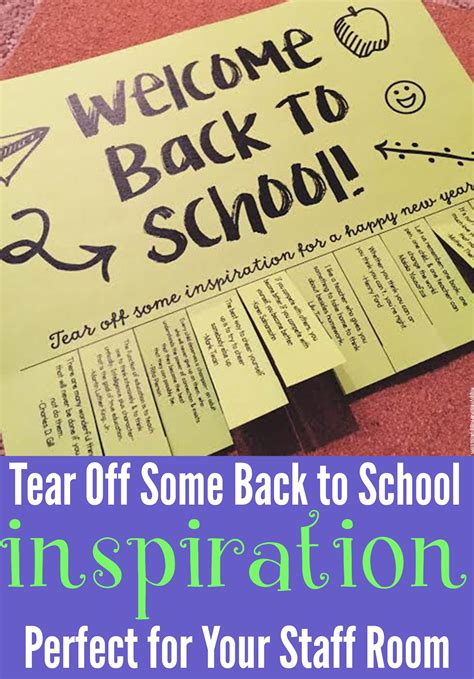 Tear Off Some Back To School Inspiration Happy Teacher Back Inspiration