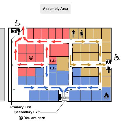emergency exit floor plan template emergency plan evacuation elements osha s