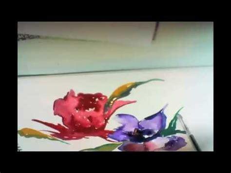 watercolor tutorial flowers youtube watercolor flower painting tutorial youtube