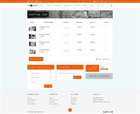 Shoppik Html Ecommerce Template By Premiumlayers Themeforest Ecommerce Templates Shopping Cart Software