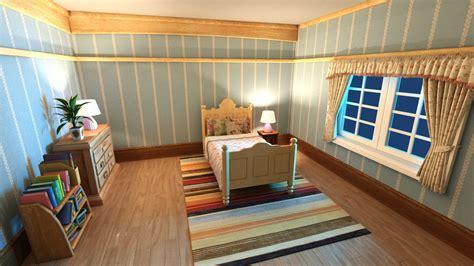 3d bedroom scene high quality 3d models 3d model cartoon bedroom scene