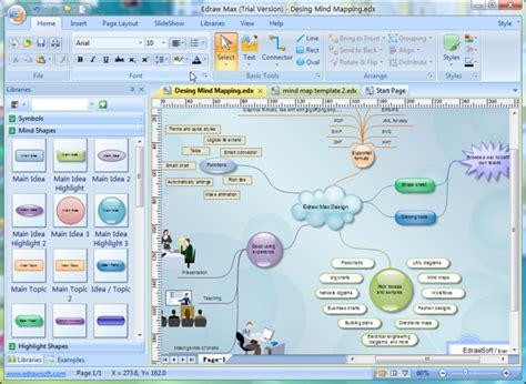 Word Vorlage Mindmap Edraw Mind Map Freeware De