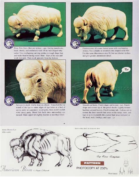 bison carving wood carving patterns woodarchivist