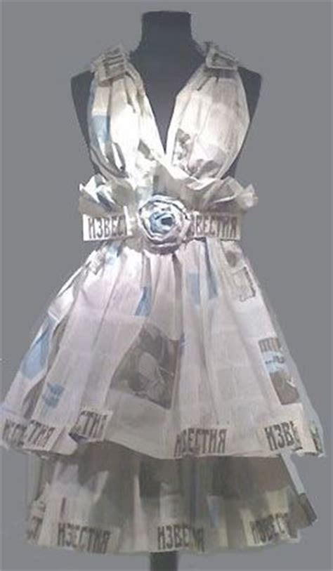 How To Make A Dress Out Of Tissue Paper - 25 best ideas about newspaper dress on paper