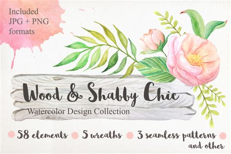 shabby chic watercolor pack by larysaza design bundles