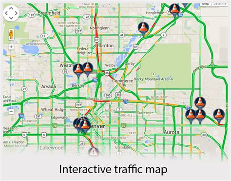 denver traffic map northbound i 25 reopened at 104th after pedestrian is hit by an rtd denver7