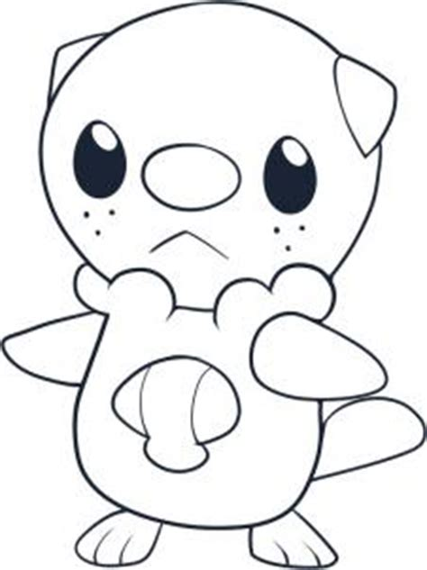 coloring pages of pokemon oshawott how to draw oshawott hellokids com