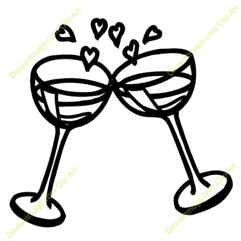 Wedding Glasses Clipart by Wedding Chagne Glasses Clipart
