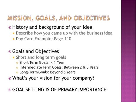 Describe Your Term And Term Goals For Post Mba by Week One Chapter Five Develop A Business Plan Ppt