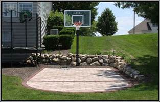 Backyard Basketball Court by My Boys Would Love This Outdoors Pinterest
