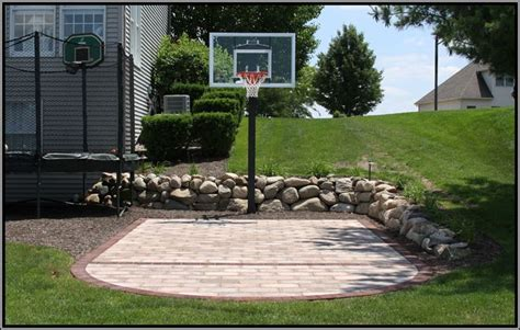 diy backyard basketball court my boys would love this outdoors pinterest