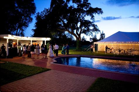 outdoor wedding venues sacramento ca stunning view of wedding reception tent at winery venue during sunset onewed
