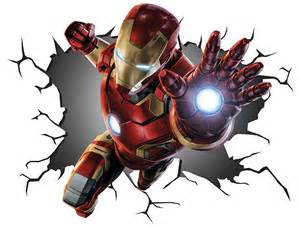 ironman iron man wall crack art sticker print mural poster multi details about the avengers decal removable home